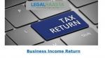 Easily file ITR return for income from business